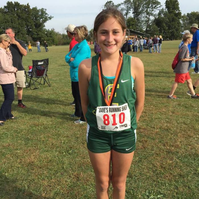 Savanna with a 21st place finish and another Middle School record