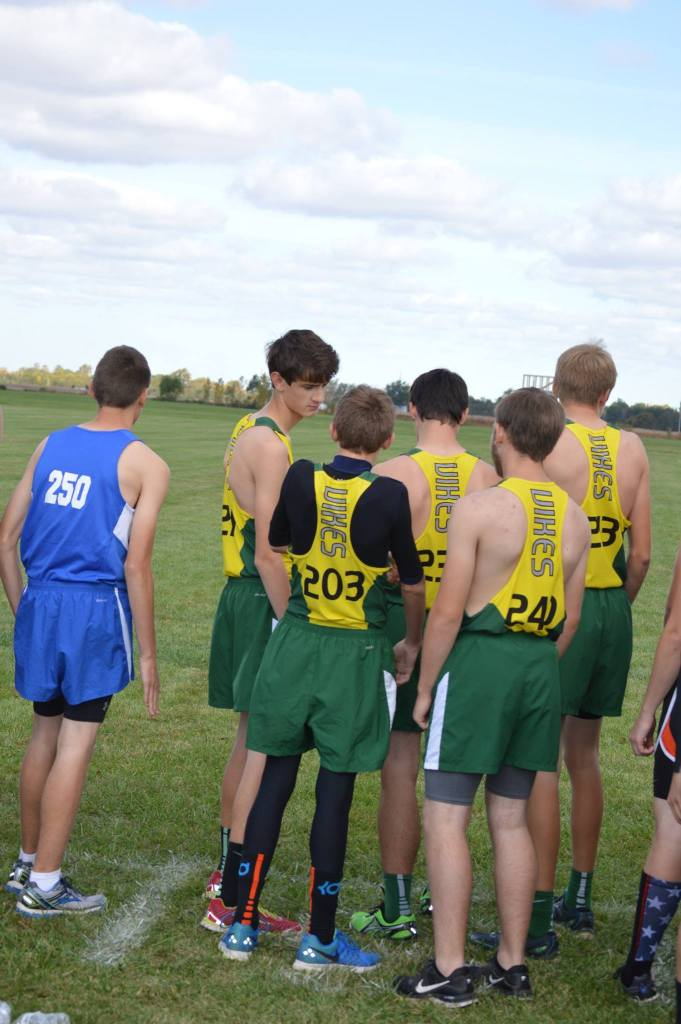 The high school boys get ready for their start in Fostoria