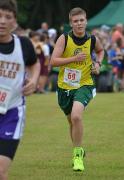 Alex chases down a Fayette runner at the end of the Defiance race