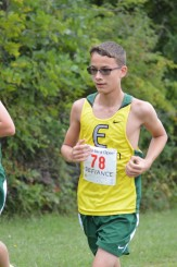Augie settles in around the mile mark