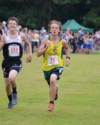 Ben fights to pass runners at the end