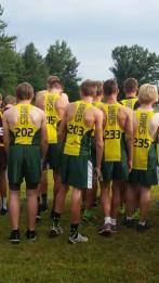 The high school men line up to start