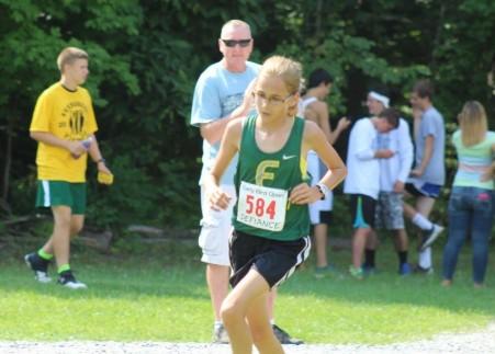 Kayla turns into the final sprint
