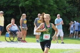 Paige pushes towards the finish line