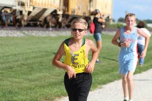 Owen battles the heat in his first race